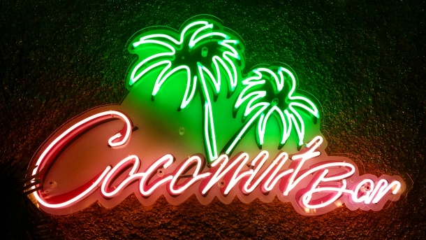 24 Neon sign at Coconut Bar