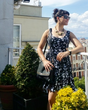 What I Wore: ASOS cutout dress for playing on Madrid rooftops