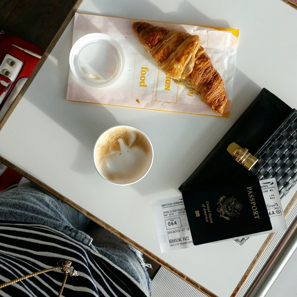 5 Croissant and coffee for breakfast at Heathrow