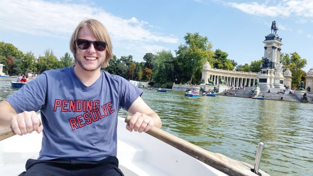 7 Jeff rowing on the lake at Parque del Retiro