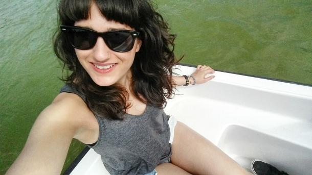 8 Selfie on the boat at Parque del Retiro
