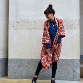 What I Wore: ASOS maxi cardigan for an officelook