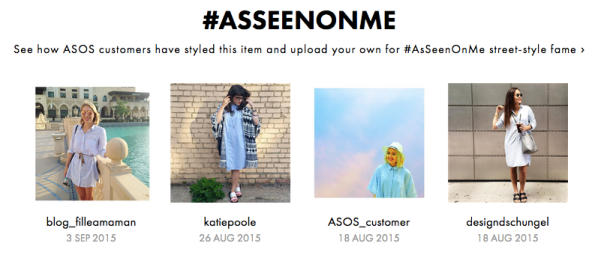 Spotted on ASOS #AsSeenOnMe, 26 August 2015
