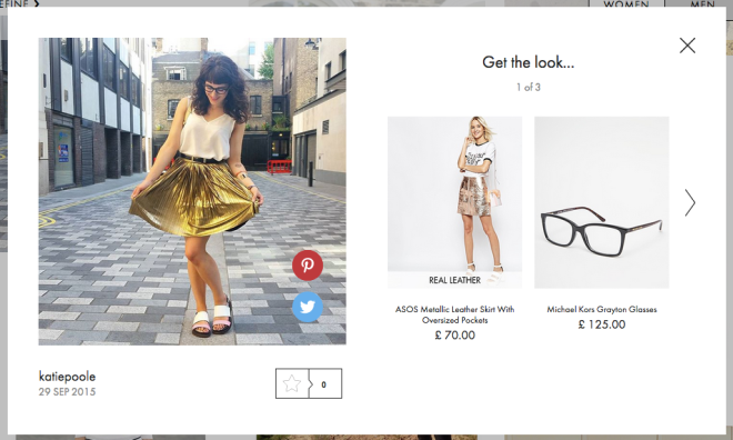 Spotted on ASOS #AsSeenOnMe, 29 September 2015