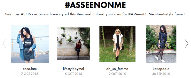 Spotted on ASOS #AsSeenOnMe, 30 September 2015