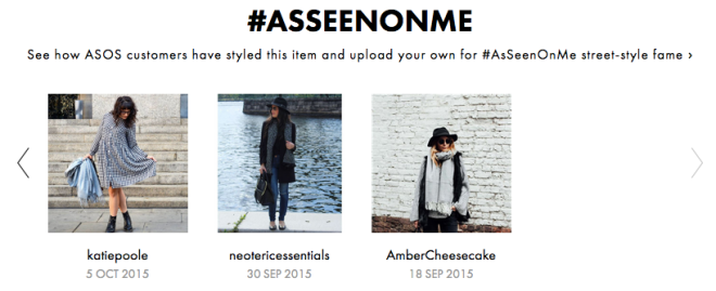 Spotted on ASOS #AsSeenOnMe, 5 October 2015