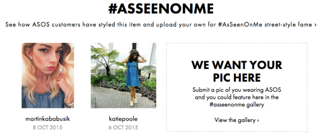 Spotted on ASOS #AsSeenOnMe, 6 October 2015