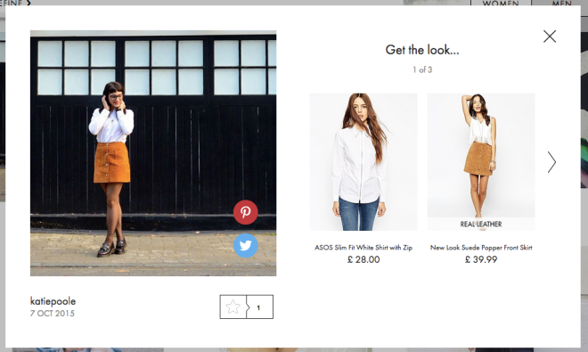 Spotted on ASOS #AsSeenOnMe, 7 October 2015