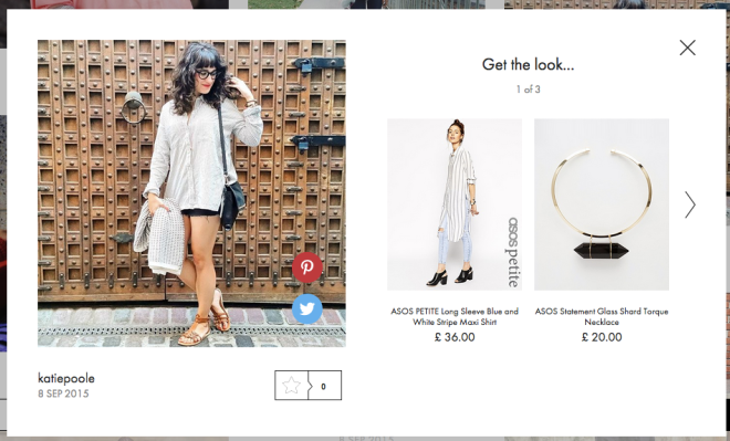 Spotted on ASOS #AsSeenOnMe, 8 September 2015
