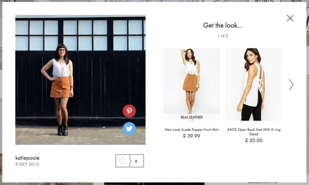 Spotted on ASOS #AsSeenOnMe, 9 October 2015