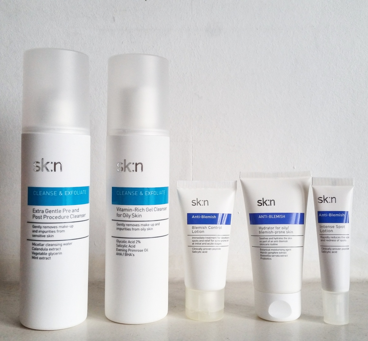Review: Sk:n products for oily and blemish-prone skin