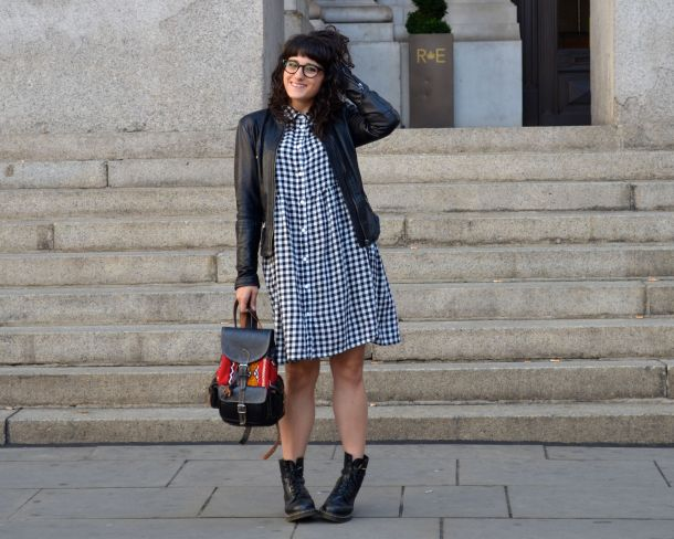 Monki Aoi Dress in Black and White with Dr Martens- Call Me Katie - 02