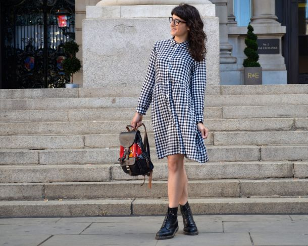 Monki Aoi Dress in Black and White with Dr Martens- Call Me Katie - 08