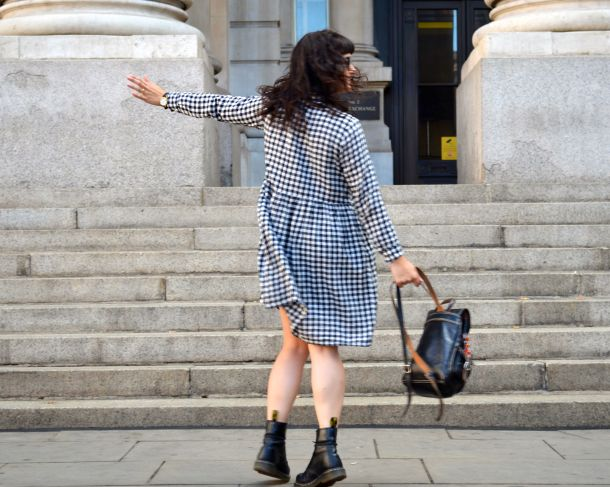 Monki Aoi Dress in Black and White with Dr Martens- Call Me Katie - 10