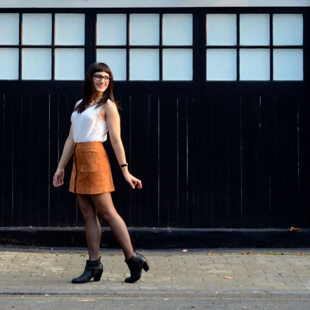 Call Me Katie - AW15 Trends - ASOS Tan Suede Skirt, Going Out Style - 01