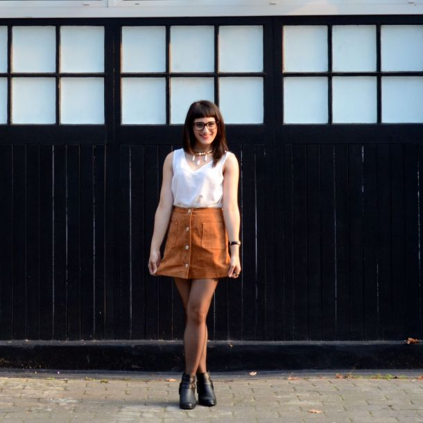 Call Me Katie - AW15 Trends - ASOS Tan Suede Skirt, Going Out Style - 02