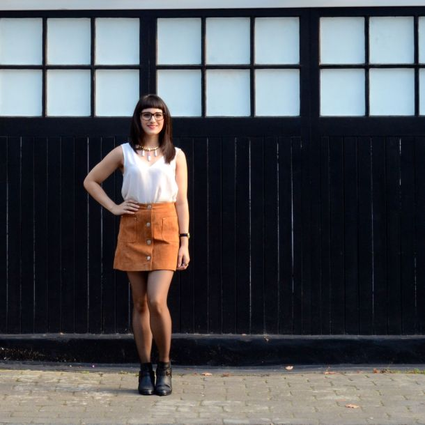 Call Me Katie - AW15 Trends - ASOS Tan Suede Skirt, Going Out Style - 03