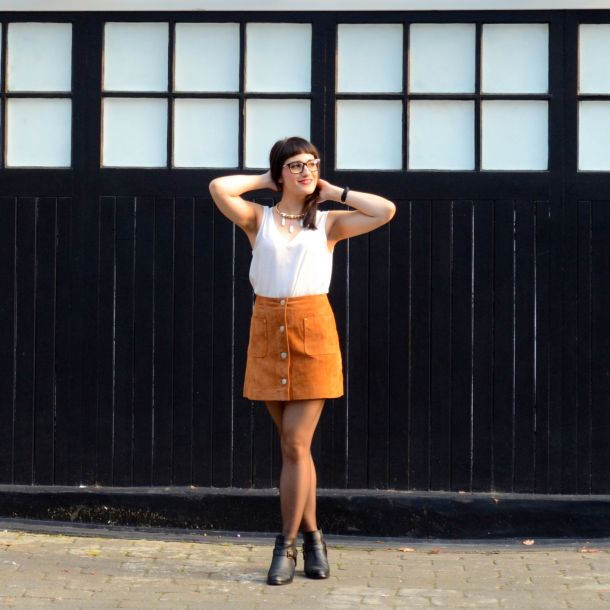 Call Me Katie - AW15 Trends - ASOS Tan Suede Skirt, Going Out Style - 04