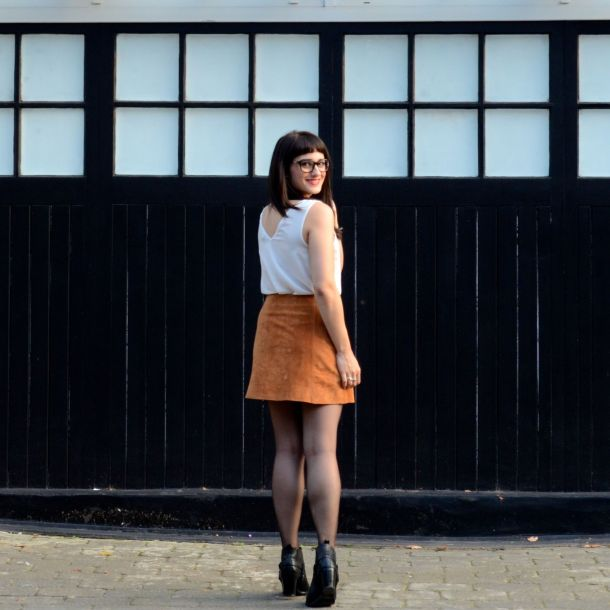Call Me Katie - AW15 Trends - ASOS Tan Suede Skirt, Going Out Style - 05