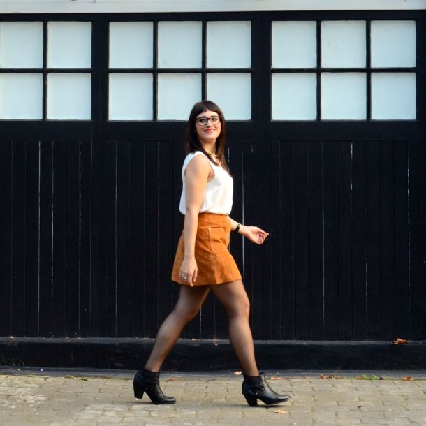 Call Me Katie - AW15 Trends - ASOS Tan Suede Skirt, Going Out Style - 06