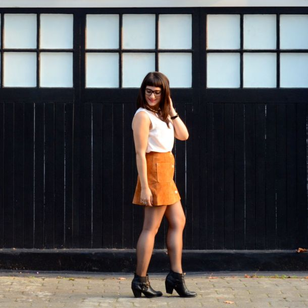 Call Me Katie - AW15 Trends - ASOS Tan Suede Skirt, Going Out Style - 08