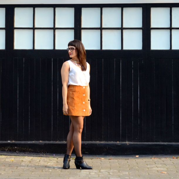 Call Me Katie - AW15 Trends - ASOS Tan Suede Skirt, Going Out Style - 09