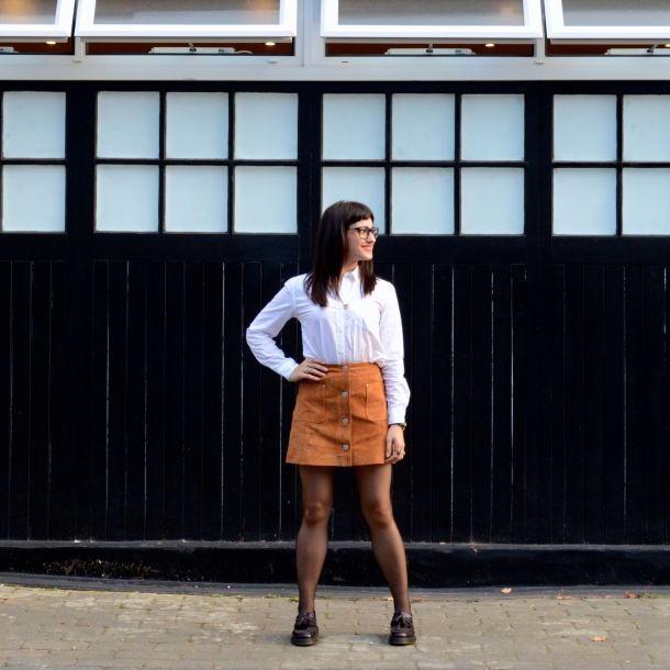 Call Me Katie - AW15 Trends - ASOS Tan Suede Skirt, Office Style - 01