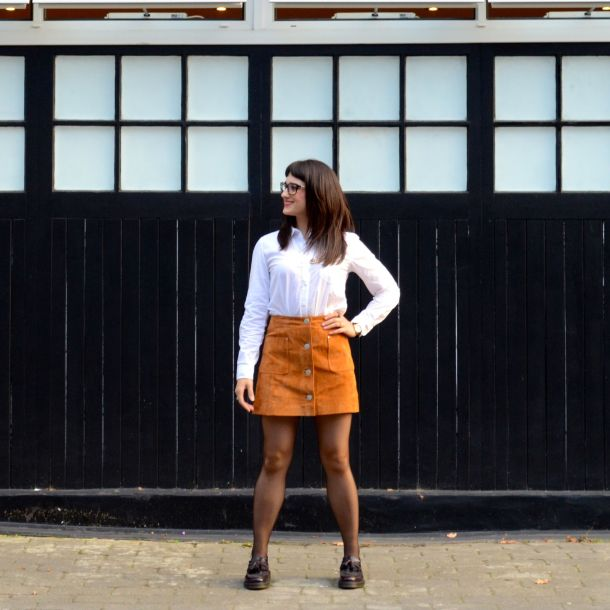 Call Me Katie - AW15 Trends - ASOS Tan Suede Skirt, Office Style - 02