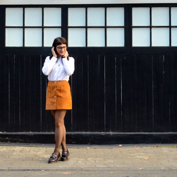 Call Me Katie - AW15 Trends - ASOS Tan Suede Skirt, Office Style - 03