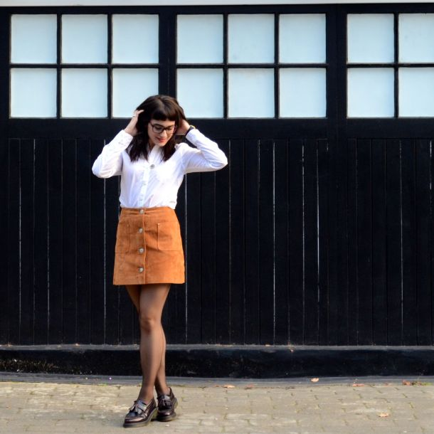 Call Me Katie - AW15 Trends - ASOS Tan Suede Skirt, Office Style - 04