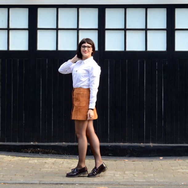Call Me Katie - AW15 Trends - ASOS Tan Suede Skirt, Office Style - 05