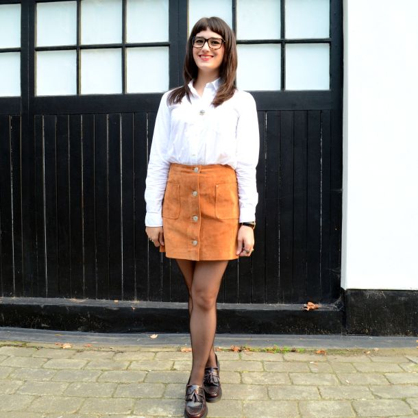 Call Me Katie - AW15 Trends - ASOS Tan Suede Skirt, Office Style - 06