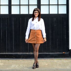 AW15 Trends: Tan Suede Skirt, Office Style