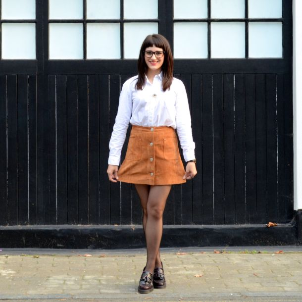 Call Me Katie - AW15 Trends - ASOS Tan Suede Skirt, Office Style - 07