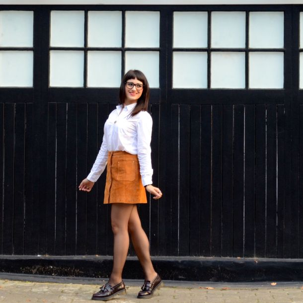 Call Me Katie - AW15 Trends - ASOS Tan Suede Skirt, Office Style - 08