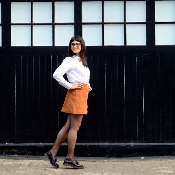 Call Me Katie - AW15 Trends - ASOS Tan Suede Skirt, Office Style - 09