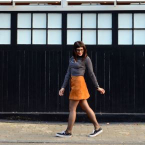 AW15 Trends: Tan Suede Skirt, Off Duty Style