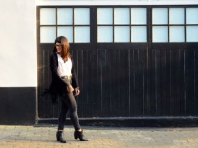 What I Wore: Kimono jacket and statement necklace for a day to night look