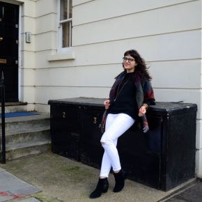 What I Wore: ripped white jeans