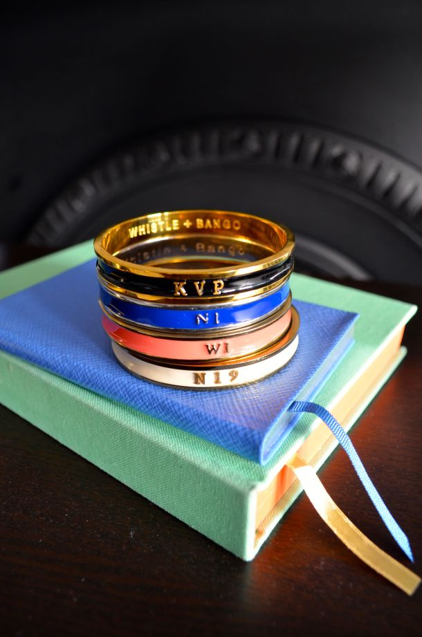 Call Me Katie - bespoke KVP initials bangle bracelet by London designer Whistle + Bango. Get your own with discount code KATIE10. - 07