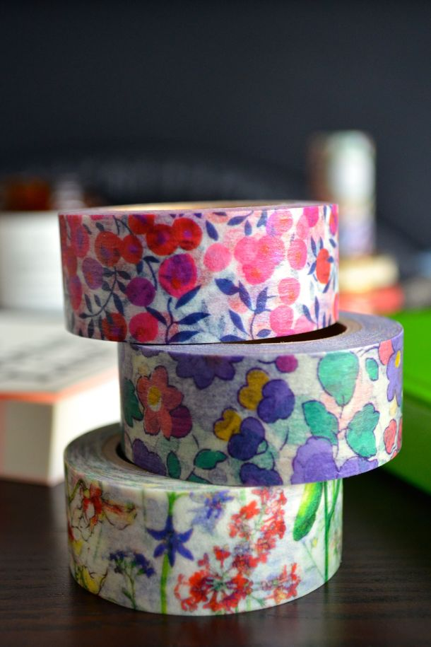 Call Me Katie - Liberty of London floral washi tape - 06