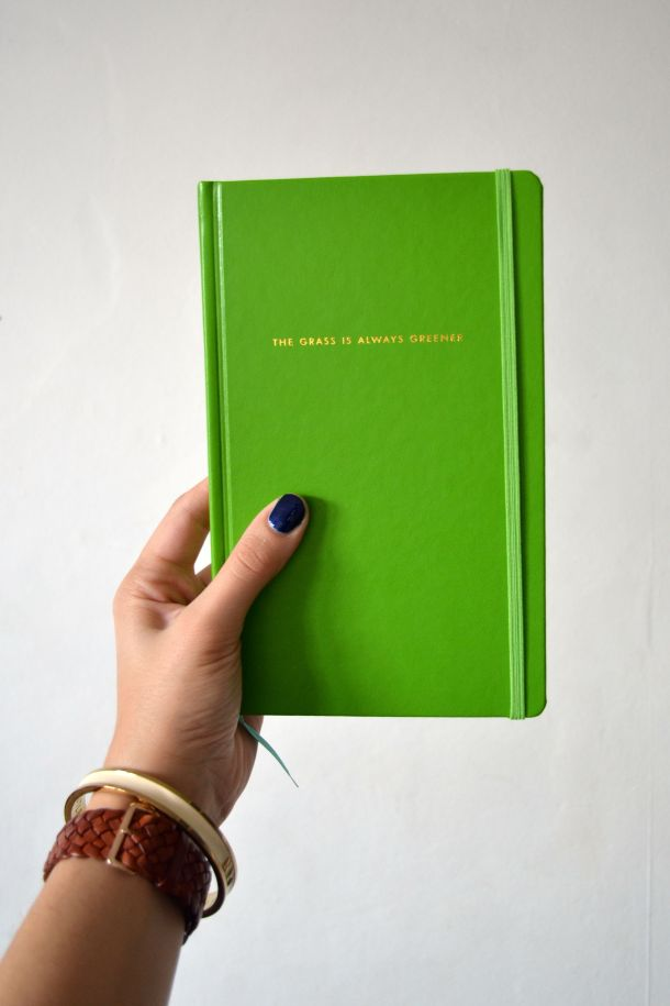 Call Me Katie - Using my Kate Spade 'The Grass is Greener' journal for my positive intentions - 01