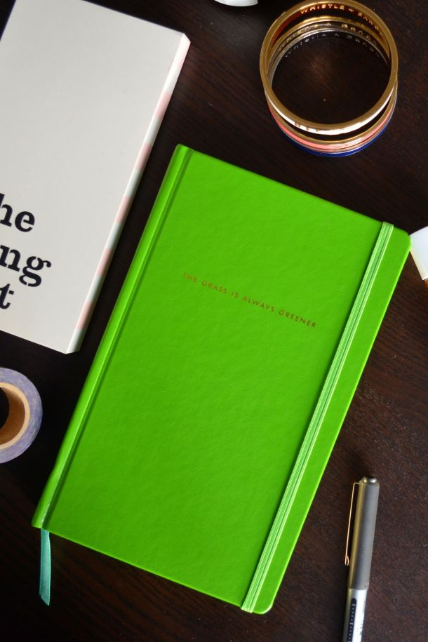 Call Me Katie - Using my Kate Spade 'The Grass is Greener' journal for my positive intentions - 07