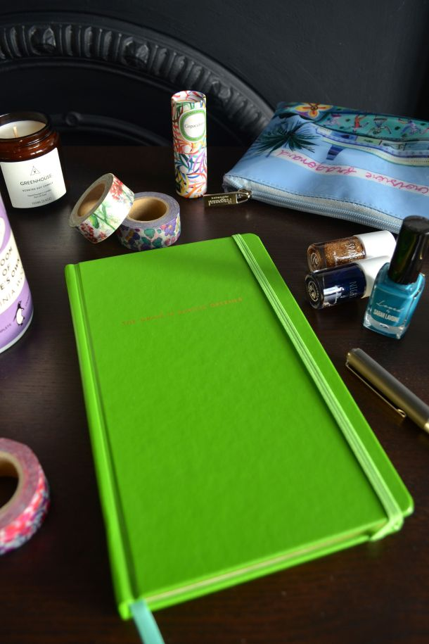 Call Me Katie - Using my Kate Spade 'The Grass is Greener' journal for my positive intentions - 08