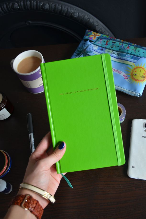 Call Me Katie - Using my Kate Spade 'The Grass is Greener' journal for my positive intentions - 10