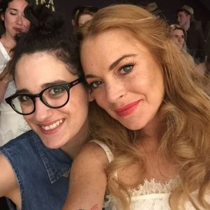 Katie Poole and Lindsay Lohan