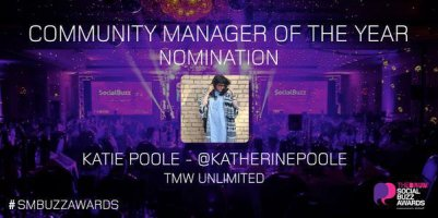 Katie Poole - Social Buzz Award Community Manager of the Year Nomination
