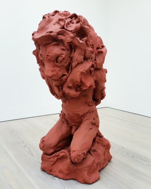 Call Me Katie - Champagne Life at Saatchi Gallery in London, January to March 2016, artwork is Lion Man by Stephanie Quayle in 2013