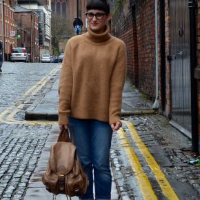 What I Wore: boyfriend jeans and loafers for a rainy day inLiverpool