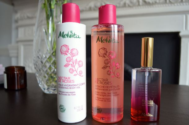 Call Me Katie - Melvita new Wild Roses Eau De Toilette, Rose Petal Shower Gel, Hydrating Body Veil review - 02